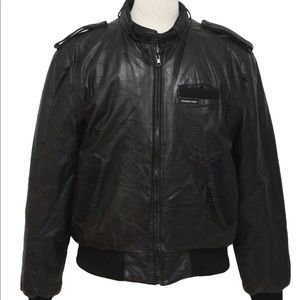 Member's Only leather jacket